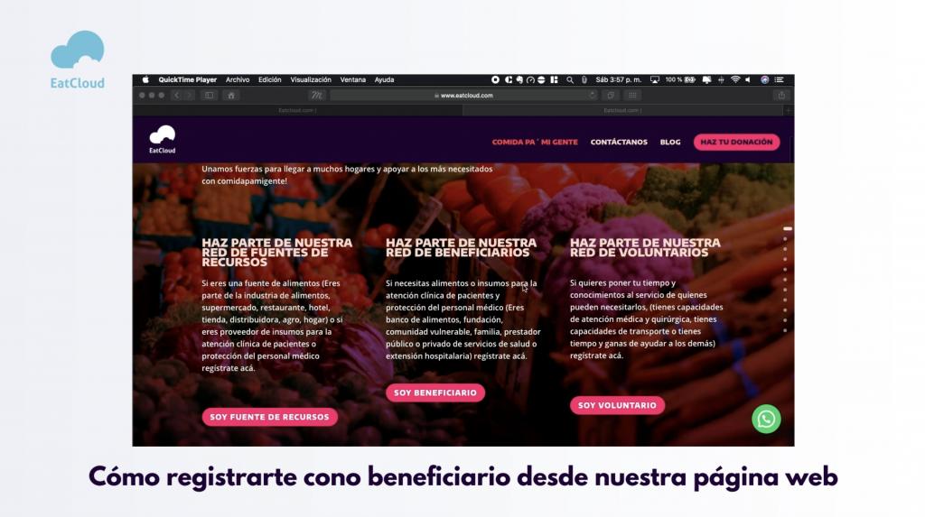 1 Creación de beneficiario en el formulario web