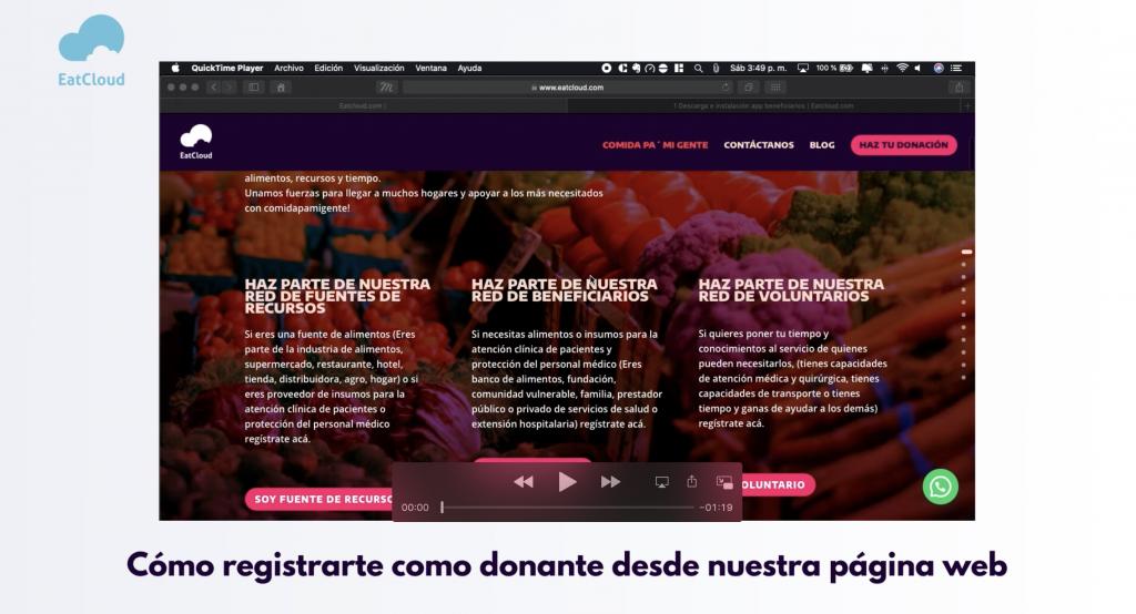 1 Creación de donante en formulario web